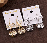European and American fashion simple wild earrings earrings oblong basket