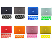 "Case for Macbook Pro 13.3""/15.4"" with Retina display Solid Color PVC Material 2 in 1 Ultra Slim Case Cover Keyboard Cover"