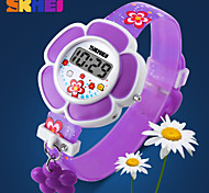 forma de flor doce cor relógio digital Correia de borracha colorido das meninas skmei®