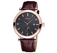 data mulher sinobi® aumentou cinta de couro café relógios de ouro moda feminina vestido do negócio relógio de quartzo relógio de senhora