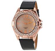 Women's Crystal Case PU Band Quartz Watch Cool Watches Unique Watches