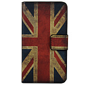 Union Jack Pattern PU Leather Full Body Cover with Stand for Wiko Lenny 2