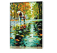 DIY Digital Oil Painting  Frame Family Fun Painting All By Myself  Mood With Rain Road  X5046