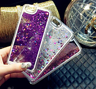 Fun Glitter Star Liquid Back Quicksand Transparent Clear PC Hard Cover For iPhone 6/iPhone 6S