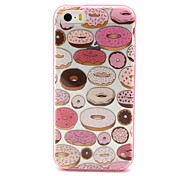 2-in-1 Sweet Circle Pattern TPU Back Cover with PC Bumper Shockproof Soft Case for iPhone 5/5S