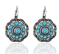Retro Hollow Circular Drop Earrings Christmas Gift