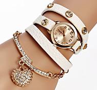 Sale New Arrive 6 Colors Luxury Heart Pendant Bracelet Wristwatches Women Dress Watches Relogio Feminino Montre Femme