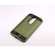 Armor Stripe Wiredrawing Hard Case PC+Silicone Skin Cover For Motorola  Moto X 3