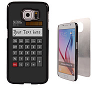 Personalized Case - Calculator Design Metal Case for Samsung Galaxy S6/ S6 edge/ note 5/ A8 and others