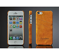 Oil Wax Style Case Cover Card slot Case For iPhone 5/5S(Assorted Color)