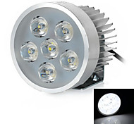 Wired 18W 6000K 1200lm White Light 6-LED Motorcycle Headlight Headlamp - Silver