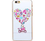 liebe Fantasy-Fahrradmuster transparent pc Schutzhülle für iPhone 6 Plus