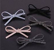 Stripe Cloth Art Bowknot Hairpin Bang Clip Hair Accessories