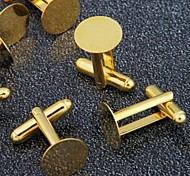 10PCS Gold Tone Cufflinks Cuff Link Backs Blanks 0.71x0.47