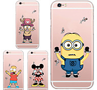 MAYCARI®Poor Cartoon Targets Transparent TPU Back Case for iPhone 6/iphone 6S(Assorted Colors)
