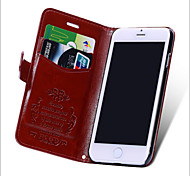PU Leather Card Holder / Package Lines For The Apple IPhone6s Mobile Phone