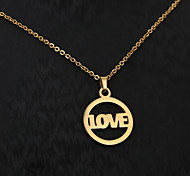 European  fashion personality titanium steel gold pattern necklace 1-LOVE  Wedding / Party / Daily / Casual 1pc