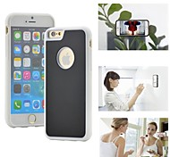 Myfon Lo  TPU+PC+Nano Suction Material  Anti-Gravity Case for iPhone 6(White with logo hole)
