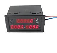 AC80-300V 100A Digital LED Current Voltage Tester Meter Power Factor Detection with CT