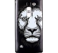 Lion Pattern TPU Phone Case for LG Leon  H340N/LG Spirit H422/Magna H502