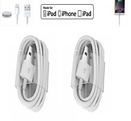 2pcs 1M LED Light USB DataSync Charger Charging Cable Line Cord for iPhone6/Plus