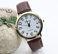 La montre de ceinture de loisirs de mode de quartz femme en cuir (couleurs assorties)