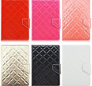 patrón de rombos de alta calidad de cuero de la PU con el caso del soporte para la tableta de 7 pulgadas universales