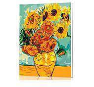 DIY цифровой живописи маслом кадр картины семейного отдыха всего сам Ван Гог подсолнечника x5060