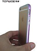 Topwise® Rose Gold Ultra thin Metal Bumper Frame + Soft Silicone Phone Cover Case for IPhone 6 6s 4.7 inch