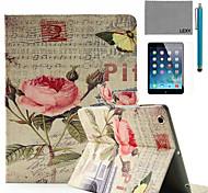 lexy® China aumentó patrón de cuenta de la música de la PU del caso del soporte del tirón del cuero con protector de pantalla y el stylus