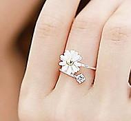 Daisy Fashion Alloy Rhinestone Flower Rings