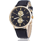 Men's Watch Casual Fashion Calendar Eyes Business Leather Watches