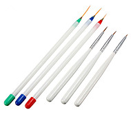 6PCS Nail Art Pens Brushes 3 Fine Drawing 3 Striping Liner Design Set Nail Tool