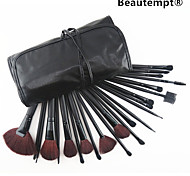 24 Pcs Makeup Brush with Free Leather Pouch - Professional and Perfect Style