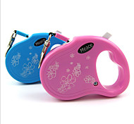 Blue/Pink 3M Automatic Retractable Lead for Small Dogs and Pets