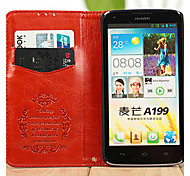 PU Leather Protective Sleeve For Huawei Card Support  A199 Mobile Phone