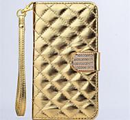 Diamant-Design Lederschlag-Standplatz-Mappen-Armband Seil Abdeckungsfall für Galaxie-Anmerkung 5 / Anmerkung 4 / Anmerkung 3 (Farbe