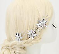 Alloy / Rhinestone Hairpins Wedding / Party 3pcs