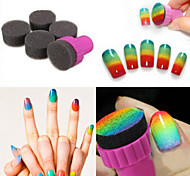 1 Set DIY 1 Stamper + 4 Changeable Sponge Nail Art Design Shade Transfer Stamper