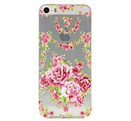 cinese rosa modello cassa del telefono TPU per il iPhone 5 / 5s
