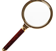 Tuo Zhan Jie TJZ  Magnifying Glass Hand-held Metal Frame Wooden Handle Red