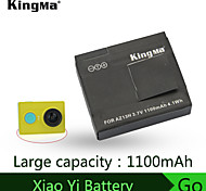 Kingma qualité contact métallique batterie de point pour xiaomi caméra sports batterie 1100mah yi