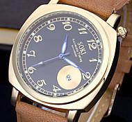 Men Casual Watch Genuine Leather Luxury Men Watches Quartz Wristwatch Function Automatic Timing Watch Relogio