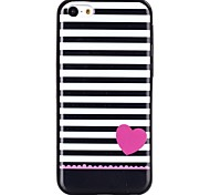 Stripe TPU Material Cell Phone Case for iPhone 5C