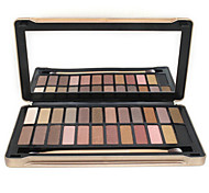 24 Paleta de Sombras de Ojos Seco / Mate / Brillo / Mineral Paleta de sombra de ojos Polvo NormalMaquillaje de Diario / Maquillaje de