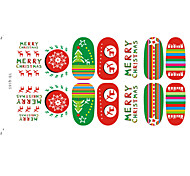 2015NEW Christmas Style Nail Art Stickers  6Pcs
