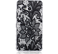 Black Lotus Pattern Material TPU Phone Case for Nokia N640