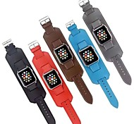 Genuine Leather Watchband Classic Buckle for iWatch Watchband 38mm/42mm Assorted Colors