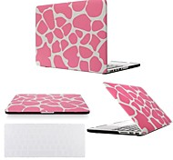 "2 in 1 Pink Leopard Hard Plastic Case Cover for MacBook  Pro 13"" /15"" +Transparent Keyboard Cover"