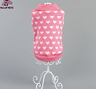 Cat / Dog Coat / Sweater Pink Winter Hearts Wedding / Cosplay / Christmas / Holiday / New Year's